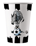 Pahare de unica folosinta 10/set 200ml Zebra Big Party