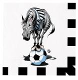 Servetele 33 x 33 cm Zebra Big Party