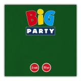 Servetele 33 x 33 cm verde inchis Big Party