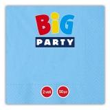 Servetele 33 x 33 cm albastru Big Party
