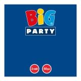 Servetele 33 x 33 cm albastru inchis Big Party