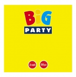 Servetele 33 x 33 cm galben Big Party