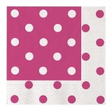Servetele 33 x 33 cm Pois Fuchsia Big Party