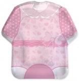 Farfurii 22 cm, forma tricou Baby Girl, roz 8 buc/set Big Party
