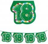Ghirlanda Fanioane din plastic culori asortate 6 m  x 25 cm numarul 18 Big Party
