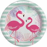 Farfurii 18 cm Flamingo 8 buc/set Party