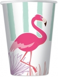 Pahare de unica folosinta 200 ml Flamingo 8 buc/set Big Party