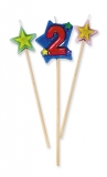 Lumanare decorativa 16 cm 3 buc/set nr 2 Big Party