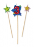 Lumanare decorativa 16 cm 3 buc/set nr 3 Big Party