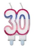 Lumanare numarul 30 Sweet Rosa Big Party