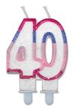 Lumanare numarul 40 Sweet Rosa Big Party