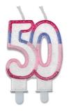 Lumanare numarul 50 Sweet Rosa Big Party