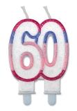 Lumanare numarul 60 Sweet Rosa Big Party