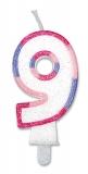 Lumanare numarul 9 Sweet Rosa Big Party