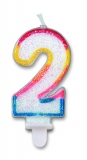 Lumanare numarul 2 Sweet Big Party