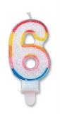 Lumanare numarul 6 Sweet Big Party