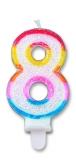 Lumanare numarul 8 Sweet Big Party
