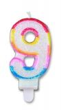 Lumanare numarul 9 Sweet Big Party