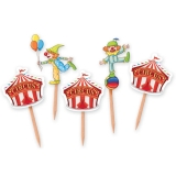 Scobitori decorate circus party 4 x 7 cm 25 buc/set Big Party