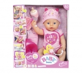 Baby Born - Papusa Interactiva Cu Corp Moale Zapf