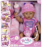 Baby Born - Papusa Etnica Interactiva Cu Corp Moale, 43 Cm Zapf
