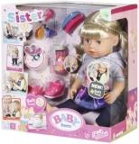 Baby Born - Papusa Surioara Interactiva Blonda, 43 Cm Zapf