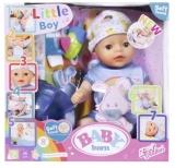 Baby Born - Micul Bebelus Baiat Interactiv Cu Corp Moale, 36 Cm Zapf