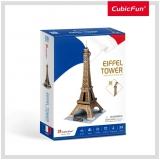Puzzle 3D Turnul Eiffel (Nivel Mediu 39 Piese)  Cubicfun