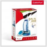 Puzzle 3D Burj Al Arab (Nivel Mediu 46 Piese)  Cubicfun