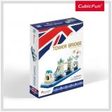 Puzzle 3D Tower Bridge (Nivel Mediu 52 Piese)  Cubicfun
