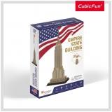 Puzzle 3D Empire State Building (Nivel Mediu 54 Piese) Cubicfun