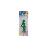 Lumanare Clasica Verde Nr. 4 Big Party