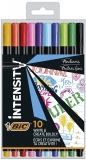 Fineliner Intensity Fine, 0.4 mm, 10 culori/set BIC