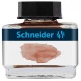 Calimara cu cerneala pastel, 15 ml, culoare cognac, Schneider