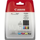 Multipack Cli-551Xlc/Xlm/Xly/Xlbk Photo Value Pack 10X15 50 Sheet Original Canon Pixma Ip7250