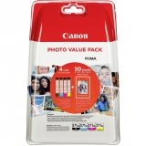Multipack Cli-571Xlc/Xlm/Xly/Xlbk Photo Value Pack 10X15 50 Sheets Original Canon Pixma Mg6850