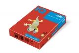 Hartie copiator IQ color intens A4 coral red 80 g/mp, 500 coli/top