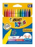 Creioane cerate 12 culori Plastidecor Bic