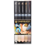 Set markere 5 culori Skin Tones Chameleon