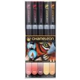Set markere 5 culori Warm Tones Chameleon