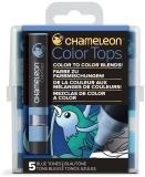 Set markere 5 culori Color Tops Blue Chameleon