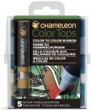Set markere 5 culori Color Tops Nature Chameleon