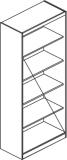 Etajera inalta dubla 840 x 390 x 1840 mm