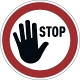 Marcaj autoadeziv pentru podea, Stop, nepermanent, rosu Durable