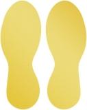 Marcaj autoadeziv pentru podea, forma pantof, 90 x 240 mm, nepermanent, galben 5 perechi/set Durable