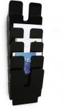 Set 6 tavite verticale Flexiplus format A4 portret negru Durable