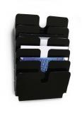 Tavita Flexiplus format A4 landscape negru, 6 buc/set Durable