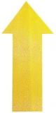 Marcaj autoadeziv pentru podea forma sageata 100 x 200 mm galben 10 buc/set Durable