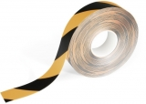 Banda autoadeziva pentru marcat locatii Duraline Strong 50 mm x 30 m negru-galben Durable