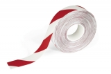Banda autoadeziva pentru marcat locatii Duraline Strong 50 mm x 30 m alb-rosu  Durable